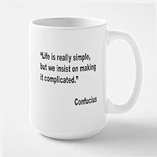 Confucius Simple Life Quote Large Mug