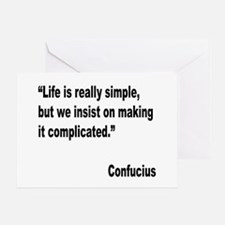 Confucius Simple Life Quote Greeting Card