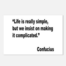 Confucius Simple Life Quote Postcards (Package of