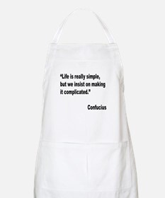 Confucius Simple Life Quote BBQ Apron