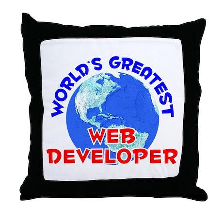 World's Greatest Web d.. (E) Throw Pillow