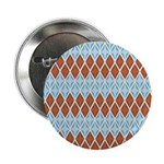 "Blue and Brown Argyll 2.25"" Button"