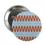"Blue and Brown Argyll 2.25"" Button (10 pack)"
