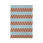 Blue and Brown Argyll Rectangle Magnet (10 pack)