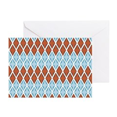 Blue and Brown Argyll Greeting Cards (Pk of 20)