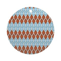Blue and Brown Argyll Ornament (Round)