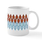 Blue and Brown Argyll Ceramic Coffee Mug