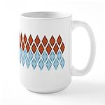 Blue and Brown Argyll Large Mug (15 oz)