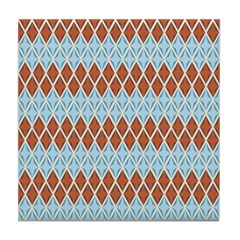 Blue and Brown Argyll Tile Drink Coaster