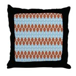 Blue and Brown Argyll Throw Pillow