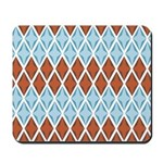Blue and Brown Argyll Mousepad