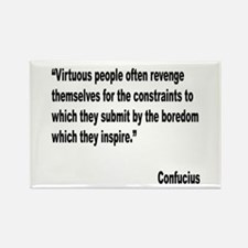 Confucious Virtuous People Quote Rectangle Magnet