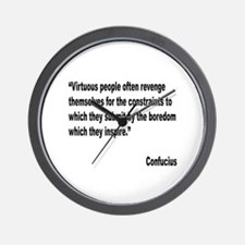 Confucious Virtuous People Quote Wall Clock