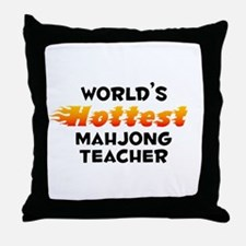 World's Hottest Mahjo.. (B) Throw Pillow