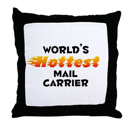 World's Hottest Mail .. (B) Throw Pillow