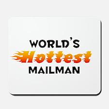 World's Hottest Mailman (B) Mousepad