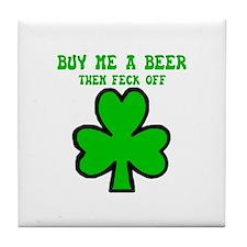 Irish shamrock Tile Coaster