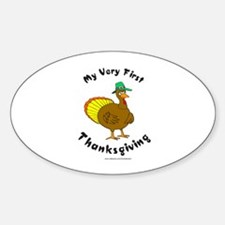 MY FIRST THANKSGIVING Oval Decal