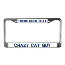 Crazy Cat Guy License Plate Frame
