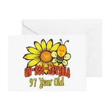 Un-Bee-Lievable 97th Greeting Card