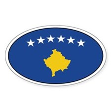 Kosovan flag stickers Oval Decal