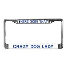 Crazy Dog Lady License Plate Frame