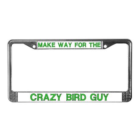 Crazy Bird Guy License Plate Frames