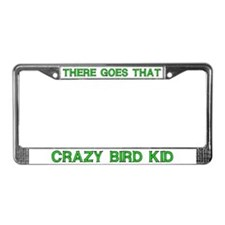 Crazy Bird Kid License Plate Frame