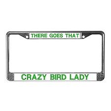 Crazy Bird Lady License Plate Frame