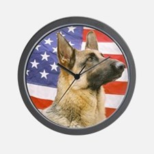 All American Military and Police K9 Wall Clock