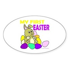 MY FIRST EASTER Oval Decal