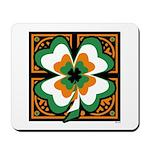 GRN-WHT-ORG SHAMROCKS 1 Mousepad