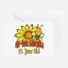 Un-Bee-Lievable 95th Greeting Card