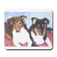 Collie Pups Mousepad