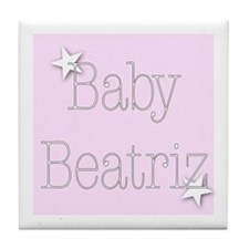 Cute Beatriz Tile Coaster