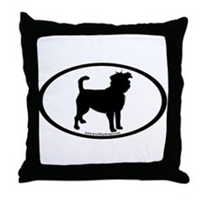Affenpinscher Oval Throw Pillow