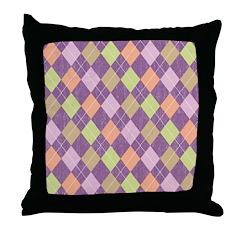 Vintage Argyll Throw Pillow
