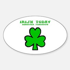 Irish today Oval Decal