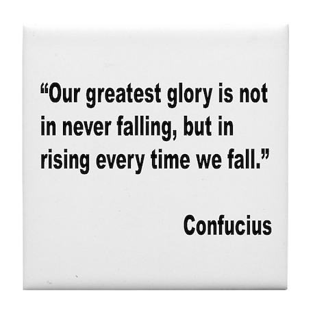Confucius Greatest Glory Quote Tile Coaster