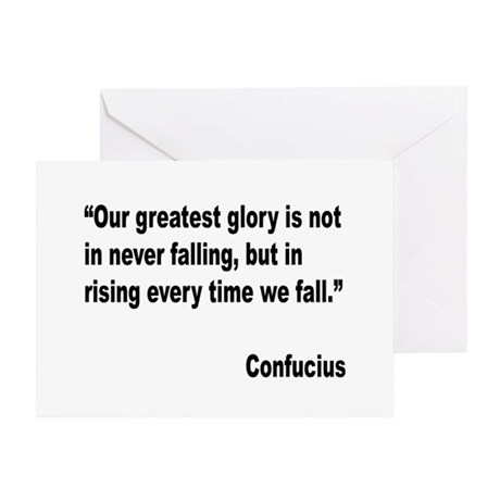 Confucius Greatest Glory Quote Greeting Card