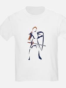 Female Knight Kids T-Shirt