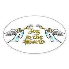 Joy to the world Oval Decal