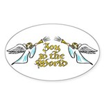 Joy to the world Oval Sticker