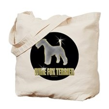 Bling Wire Fox Terrier Tote Bag