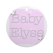 Cute Elyse Ornament (Round)