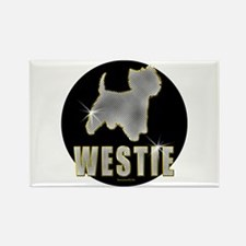 Bling Westie Rectangle Magnet (10 pack)