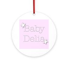 Cute Delia Ornament (Round)