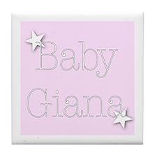 Cute Giana Tile Coaster