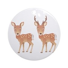 Deer Family Ornament (Round)