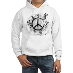 Peace Symbol & Sign Hooded Sweatshirt